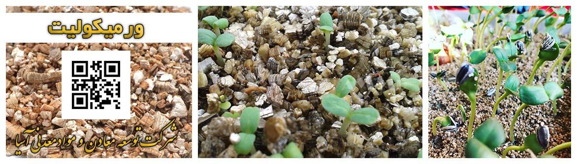 خاک ورمیکولیت باغبانی گلخانه پرورش گل و گیاه بنفشه آفریقایی ورمی کولیت ورمی کولایت سید بذر کشت قارچ
